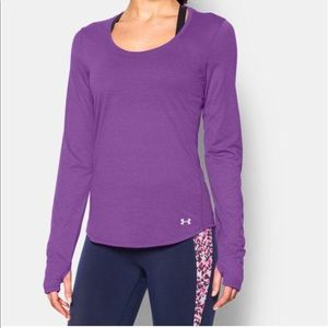 Under armour purple pink sport top long sleeve